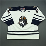 Kerbashian, Kale<br>White Set 1<br>Greenville Road Warriors 2011-12<br>#20 Size: 56