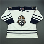 Klassen, Sam<br>White Set 1<br>Greenville Road Warriors 2011-12<br>#7 Size: 56