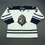 Meilleur, Francis<br>White Set 1<br>Greenville Road Warriors 2011-12<br>#26 Size: 56