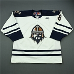 Prough, Jeff<br>White Set 1<br>Greenville Road Warriors 2011-12<br>#8 Size: 54