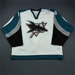 Carle, Matt * <br>White - Playoff Set<br>San Jose Sharks 2006-07<br>#18 Size: 56