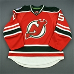 Boucher, Reid<br>Red - Stadium Series Period 2 - Game-Issued (GI)<br>New Jersey Devils 2013-14<br>#15 Size: 56