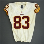 Davis, Fred<br>White, Worn Sunday September 29, 2013 vs. Oakland Raiders<br>Washington Redskins 2013<br>#83 Size:42 SKILL