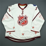 Phaneuf, Dion * <br>White - Game-Issued (GI) before Fantasy Draft<br>All Star 2011-12<br>#3 Size: 58
