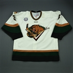 Glass, Trevor<br>White Set 1<br>Utah Grizzlies 2012-13<br>#3 Size: 56