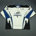 Hepp, Chris<br>White Set 1 (A removed)<br>Idaho Steelheads 2011-12<br>#3 Size: 56