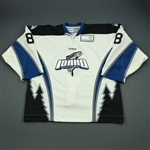 Labrie, Hubert<br>White Set 1<br>Idaho Steelheads 2011-12<br>#8 Size: 56