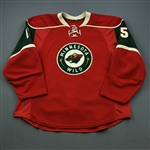 Heatley, Dany * <br>Red Set 2<br>Minnesota Wild 2012-13<br>#15 Size: 58