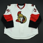 Lee, Brian<br>White Set 3<br>Ottawa Senators 2008-09<br>#55 Size: 58