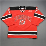 Harder, Mike<br>Red Set 1<br>Trenton Devils 2009-10<br>#17 Size: 54