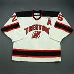 Leaderer, David<br>White Set 1 w/A<br>Trenton Devils 2009-10<br>#26 Size: 56