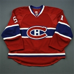 Palushaj, Aaron * <br>Red Set 1<br>Montreal Canadiens 2010-11<br>#51 Size: 56