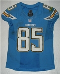 Gates, Antonio<br>Powder Blue - worn December 1, 2013 vs Cincinnati<br>San Diego Chargers 2013<br>#85 Size:44 L-BK