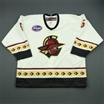 Boychuk, Riley<br>White Set 1<br>Gwinnett Gladiators 2011-12<br>#6 Size: 56