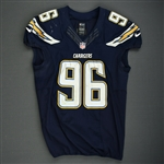 Johnson, Jarret<br>Navy - Worn December 9, 2013 vs. New York Giants<br>San Diego Chargers 2013<br>#96 Size: 46 L-BK