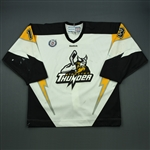 Fratkin, Jesse<br>White Set 1<br>Stockton Thunder 2012-13<br>#13 Size: 54