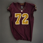 Bowen, Stephen<br>Burgundy and Gold Throwback<br>Washington Redskins 2012<br>#72 Size:48