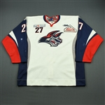 Bellamy, Rob<br>White Set 1<br>Elmira Jackals 2011-12<br>#27 Size: 56