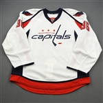 Bouchard, Francois<br>White Set 1 - Game-Issued (GI)<br>Washington Capitals 2011-12<br>#36 Size: 56
