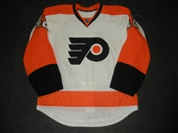 Akeson, Jason<br>White Set 1 / Playoffs<br>Philadelphia Flyers 2013-14<br>#42 Size: 52