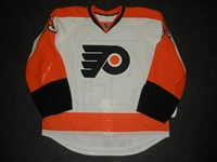 Bourdon, Marc-Andre<br>White Set 1 - Game-Issued (GI)<br>Philadelphia Flyers 2013-14<br>#43 Size: 56
