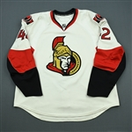 OBrien, Jim<br>White Set 1 - NHL Debut<br>Ottawa Senators 2010-11<br>#42 Size: 58