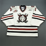 Gorchynski, Cam * <br>White, Autographed on Back Hem<br>Red Deer Rebels 2008-09<br>#31 Size: 58G