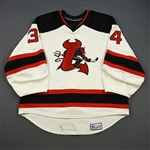 Smith, Jason<br>White Set 1 (Back-up only)<br>Lowell Devils 2007-08<br>#34 Size: 58G
