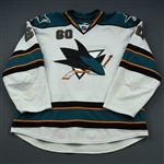 Demers, Jason * <br>White<br>San Jose Sharks 2011-12<br>#60 Size: 56