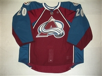 Berra, Reto<br>Burgundy Set 2 - Game-Issued (GI)<br>Colorado Avalanche 2013-14<br>#20 Size: 58G