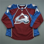 Blandisi, Joseph<br>Burgundy Set 1 - Game-Issued (GI)<br>Colorado Avalanche 2013-14<br>#64 Size: 56