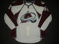 Bourke, Troy<br>White Set 1 - Game-Issued (GI)<br>Colorado Avalanche 2013-14<br>#62 Size: 56