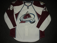 Carey, Paul<br>White Set 1 / Playoffs<br>Colorado Avalanche 2013-14<br>#28 Size: 56