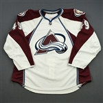 Desjardins, Gabriel<br>White Set 1 - Game-Issued (GI)<br>Colorado Avalanche 2013-14<br>#49 Size: 58