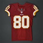 Crowder, Jamison<br>Burgundy - worn October 2, 2016 vs. Cleveland Browns<br>Washington Redskins 2016<br>#80 Size: 38 SKILL