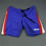 Carter, Anson and/or Pock, Thomas<br>Blue CCM Vintage Pants Shell<br>New York Rangers 2003-04<br>#22 Size: XL