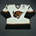 Dwyer, Jeff<br>White Set 1<br>Utah Grizzlies 2007-08<br>#7 Size: 56