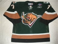 Dwyer, Jeff<br>Green Set 1<br>Utah Grizzlies 2007-08<br>#7 Size: 56