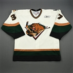 Craig, Matt<br>White Set 1<br>Utah Grizzlies 2008-09<br>#37 Size: 54