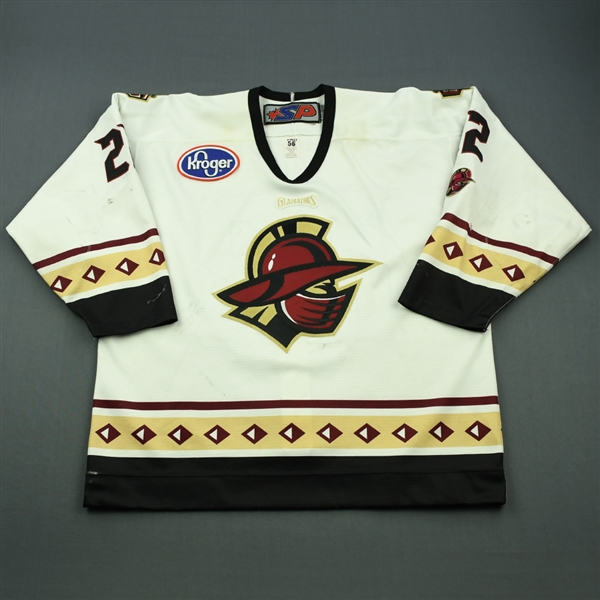 Belzile, Alex<br>White Set 1<br>Gwinnett Gladiators 2012-13<br>#22 Size: 56