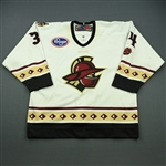 Carlson, Cody<br>White Set 1<br>Gwinnett Gladiators 2012-13<br>#34 Size: 54
