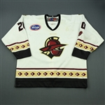 Weller, Justin<br>White Set 1 (A removed)<br>Gwinnett Gladiators 2012-13<br>#20 Size: 56