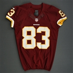 Davis, Fred<br>Burgundy, Worn October 13, 2013 vs. Dallas Cowboys<br>Washington Redskins 2013<br>#83 Size:42 SKILL