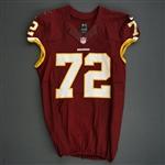Bowen, Stephen<br>Burgundy, Worn October 13, 2013 vs. Dallas Cowboys<br>Washington Redskins 2013<br>#72 Size:48 LINE