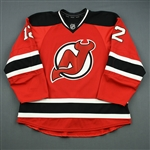 Anderson, Matt<br>Red Set 1 (1st NHL Point)<br>New Jersey Devils 2012-13<br>#12 Size: 56