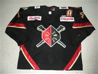 Sheahan, Brock<br>Black Set 1 w/A<br>Wheeling Nailers 2008-09<br>#14 Size: 58