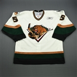 Gleed, Jon<br>White Set 1<br>Utah Grizzlies 2008-09<br>#5 Size: 56