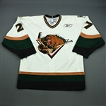 Leslie, Reagan<br>White Set 1<br>Utah Grizzlies 2008-09<br>#27 Size: 54