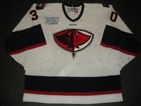 Machesney, Daren<br>White Set 1<br>South Carolina Stingrays 2011-12<br>#30 Size: 58G