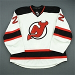 Barch, Krystofer<br>White Set 1 - Game-Issued (GI)<br>New Jersey Devils 2012-13<br>#22 Size: 58